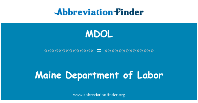 MDOL: Maine Department of Labor