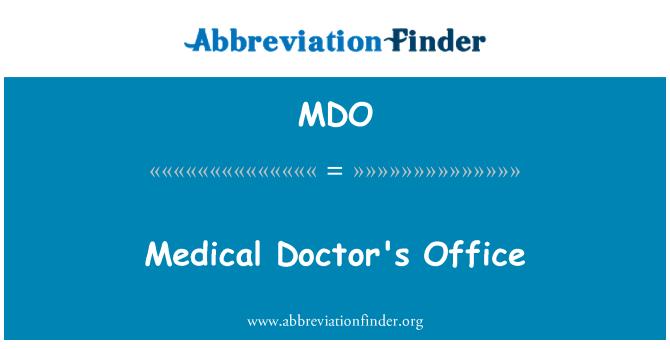 MDO: Medical Doctor's Office