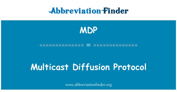 MDP: Multicast Diffusion Protocol