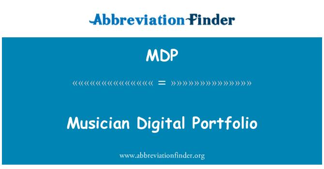 MDP: Musician Digital Portfolio