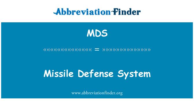 MDS: Missile Defense System