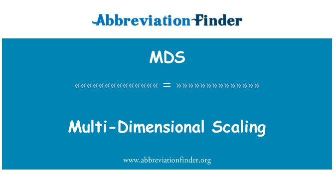 MDS: Multi-Dimensional Scaling