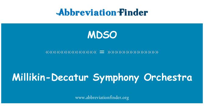 MDSO: Millikin-Decatur Senfoni Orkestrası