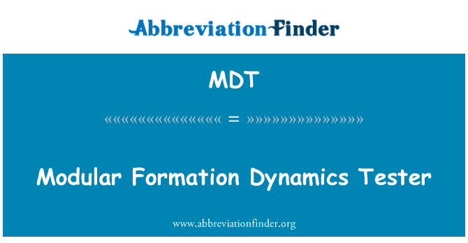 MDT: Modular Formation Dynamics Tester