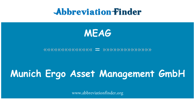 MEAG: Munich Ergo Asset Management GmbH