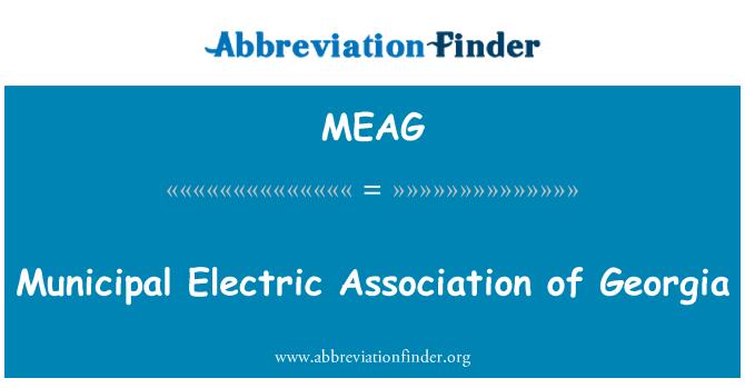 MEAG: Municipal Electric Association of Georgia