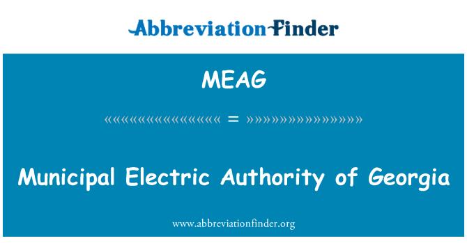MEAG: جارجیا کی میونسپل الیکٹرک اتھارٹی