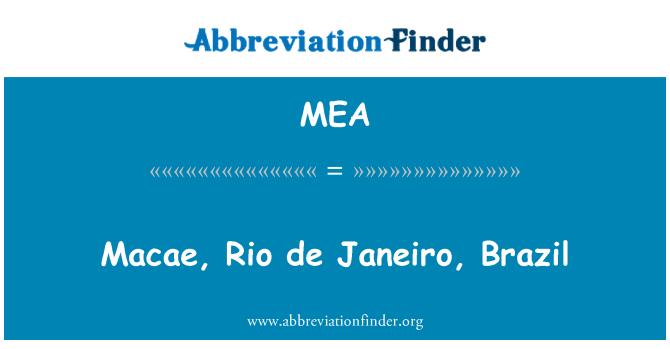 MEA: Macae, Rio de Janeiro, Brazil