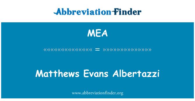 MEA: Matthews Evans Albertazzi