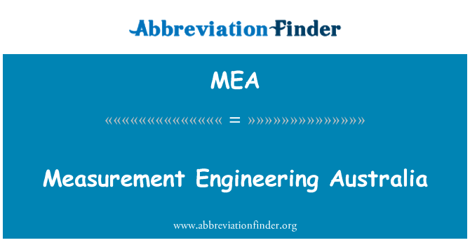 MEA: Measurement Engineering Australia