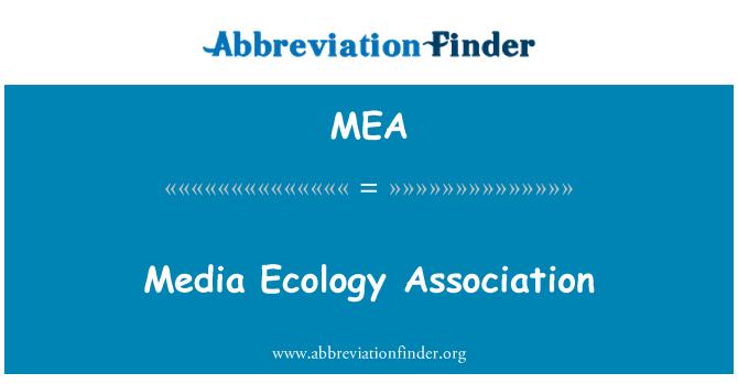 MEA: Media Ecology Association