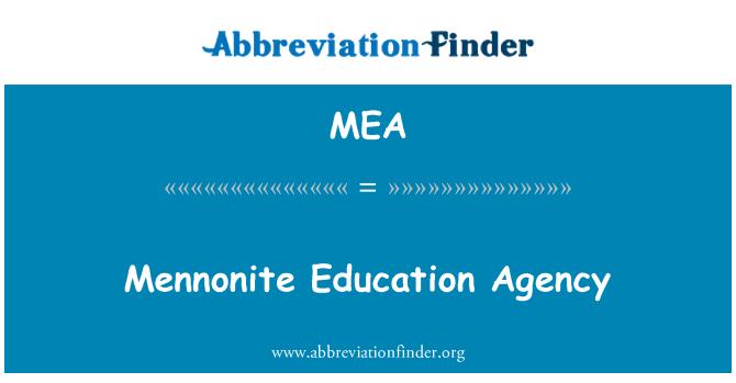 MEA: Mennonite Education Agency