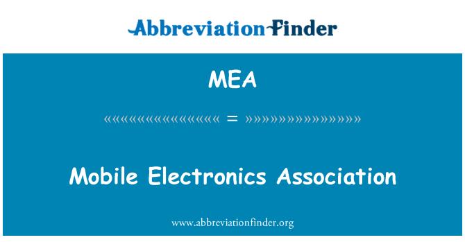 MEA: Mobile Electronics Association