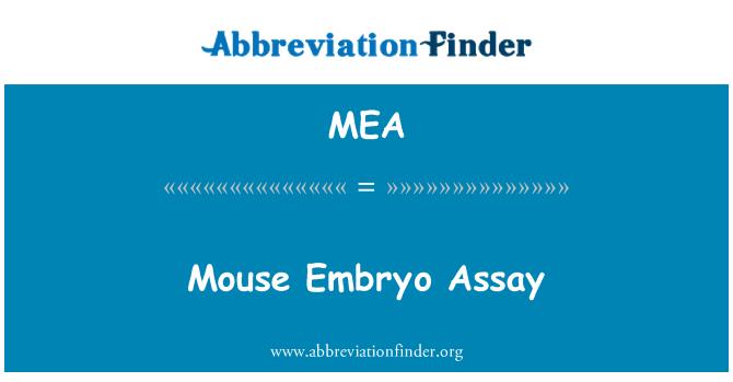 MEA: Mouse Embryo Assay