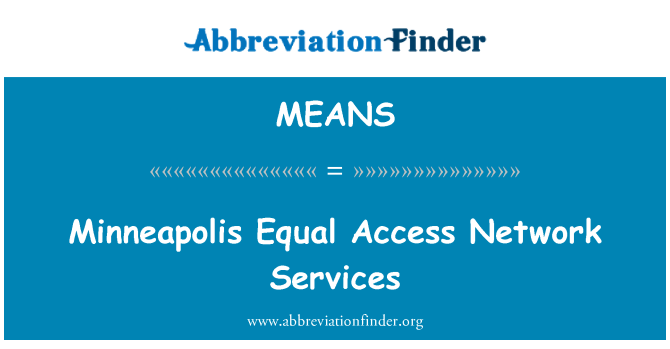 MEANS: Minneapolis Equal Access Network Services