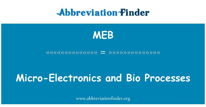 MEB: Micro-Electronics and Bio Processes
