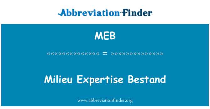 MEB: Milieu Expertise Bestand