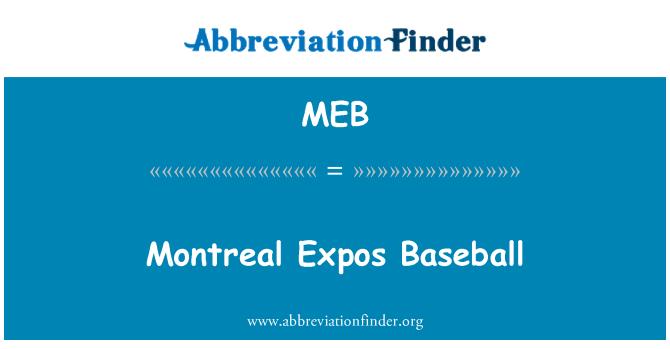 MEB: Montreal Expos Baseball