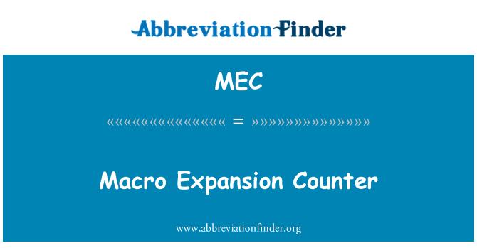 MEC: Macro Expansion Counter