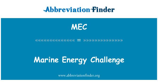 MEC: Marine Energy Challenge
