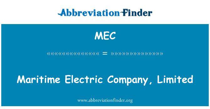 MEC: Maritime Electric Company, Limited