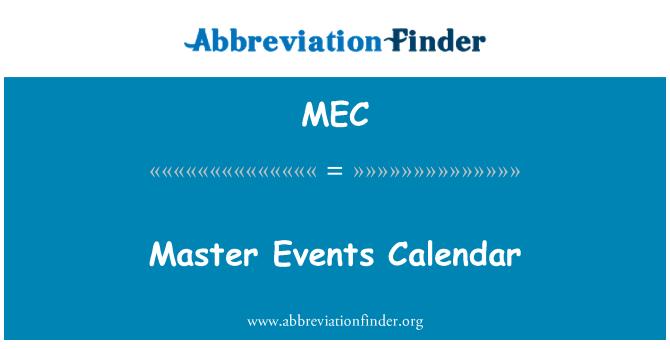 MEC: Master Events Calendar