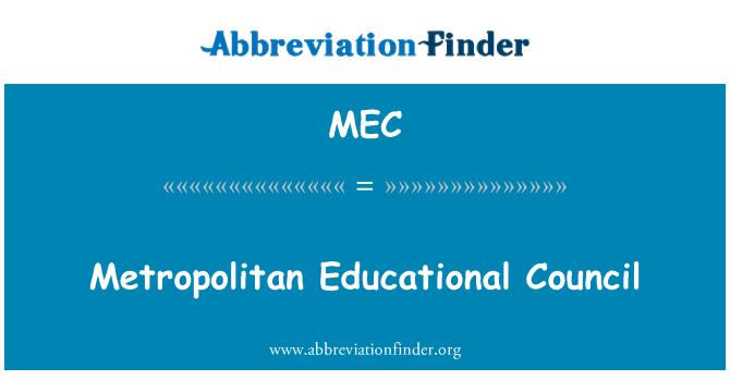 MEC: Metropolitan Educational Council