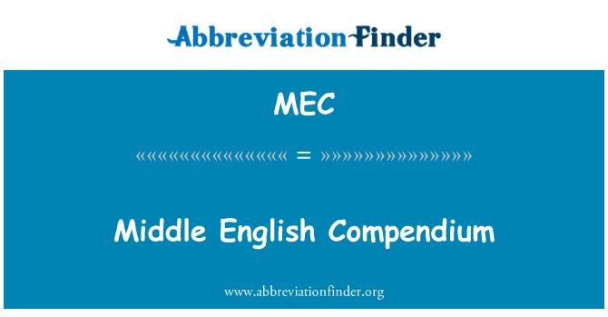 MEC: Middle English Compendium