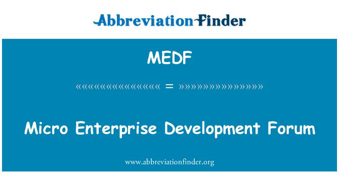 MEDF: Forum pembangunan mikro