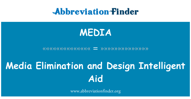 MEDIA: Eliminación de medios de comunicación y el diseño inteligente ayuda