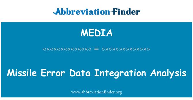 MEDIA: Análisis de integración de datos de misil Error