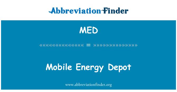 MED: Mobile Energy Depot