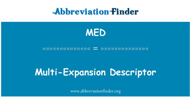 MED: Multi-Expansion Descriptor