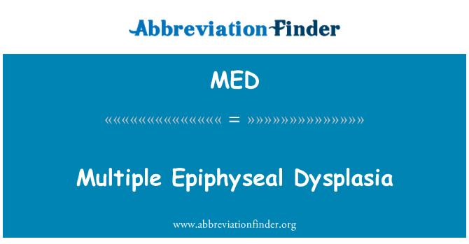 MED: Multiple Epiphyseal Dysplasia