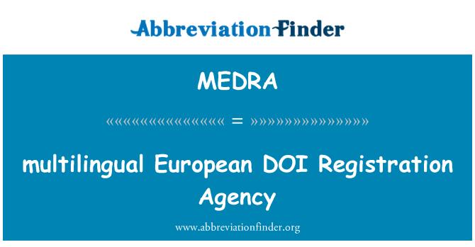 MEDRA: pelbagai bahasa Eropah setiap pendaftaran agensi