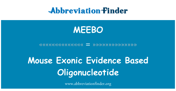 MEEBO: Prueba Exonic ratón base de oligonucleótidos