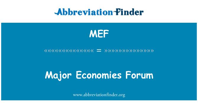 MEF: Major Economies Forum