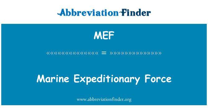 MEF: Marine Expeditionary Force