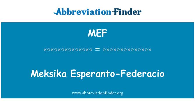 MEF: Meksika Esperanto-Federacio