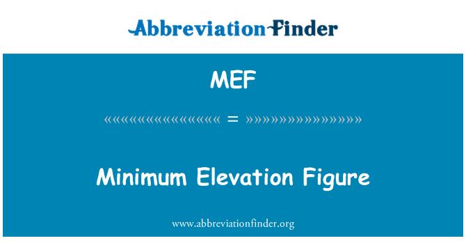 MEF: Minimum Elevation Figure