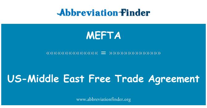 MEFTA: US-Middle East Free Trade Agreement