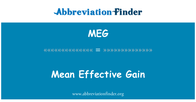 MEG: Mean Effective Gain