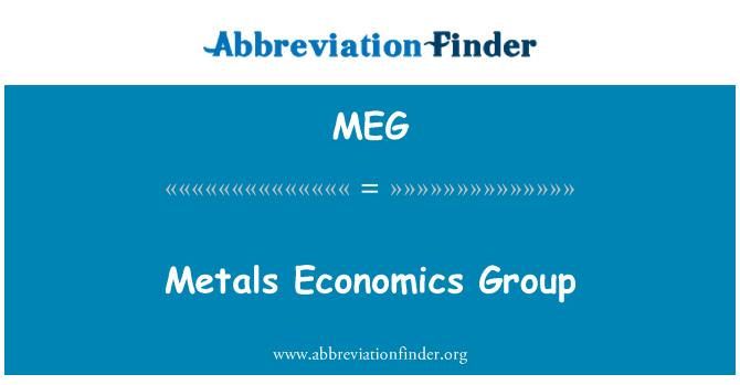 MEG: Metals Economics Group