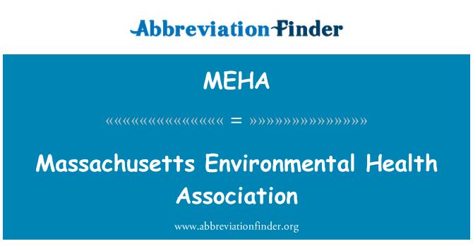 MEHA: Asociación de salud ambiental de Massachusetts