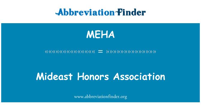 MEHA: Mideast honores Asociación