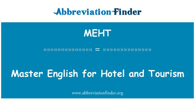 MEHT: Maestro de inglés para hotelería y el turismo