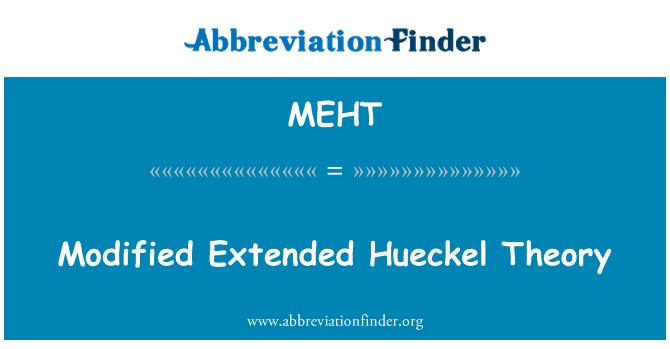 MEHT: Modificado extendida teoría Hueckel