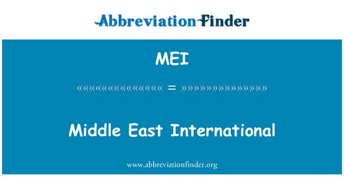 MEI: Middle East International