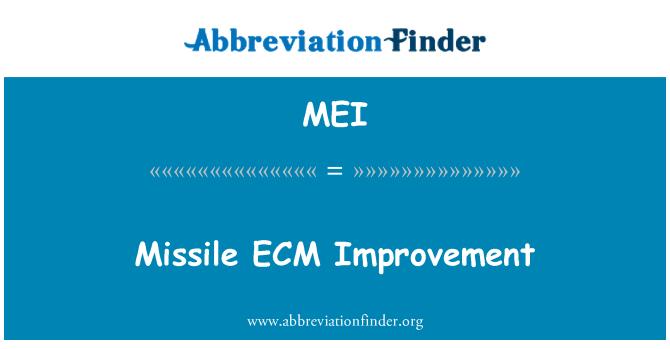 MEI: Missile ECM Improvement
