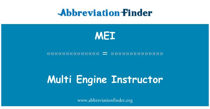 MEI: Multi Engine Instructor